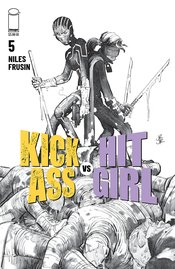 KICK-ASS VS HIT-GIRL #5 (OF 5) CVR B B&W ROMITA JR (MR)